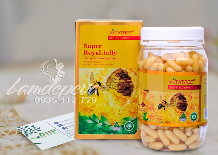 Sữa ong chúa vitatree super royal jelly 1600mg