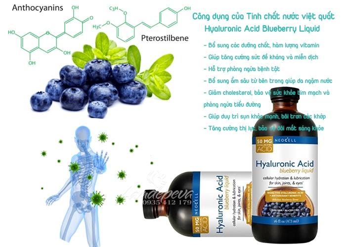 Hyaluronic Acid Blueberry Liquid 473ml-Tinh chất nước việt quất nhập khẩu từ Mỹ
