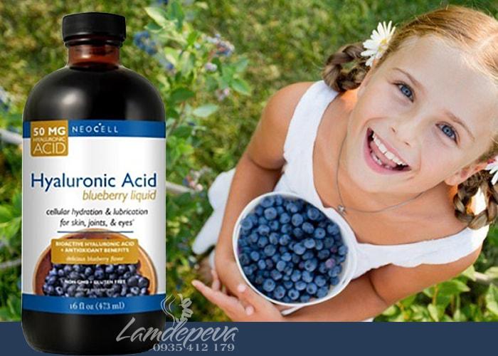 Hyaluronic Acid Blueberry Liquid 473ml của Mỹ