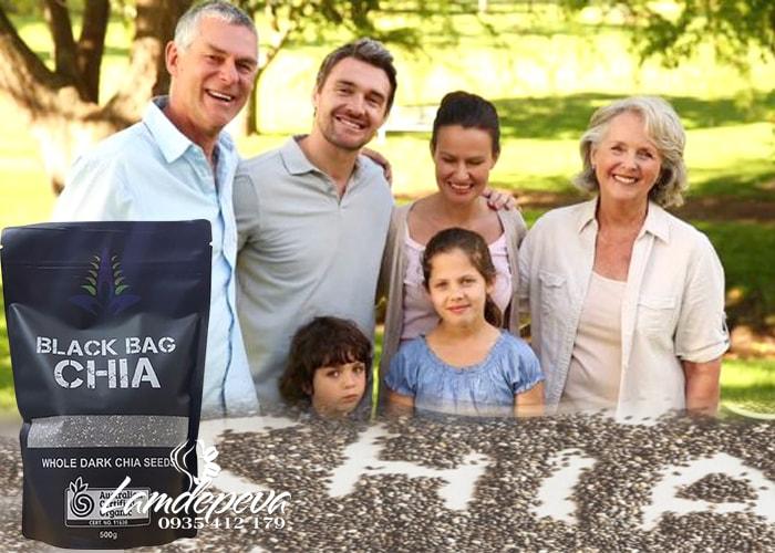 Hạt chia hữu cơ Black Bag Chia túi 500g nhập từ Úc