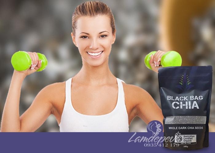 Hạt chia hữu cơ Black Bag Chia túi 500g chính hãng từ Úc