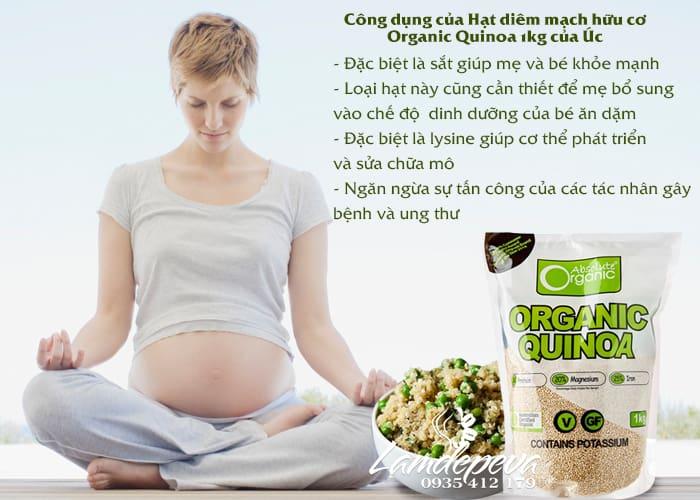 Hạt diêm mạch Organic Quinoa 1kg-Hạt diêm mạch hữu cơ hàng Úc chính hãng