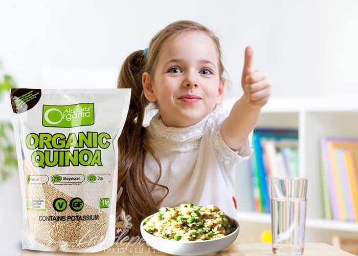 Hạt diêm mạch Organic Quinoa 1kg-Hạt diêm mạch hữu cơ nhập khẩu từ Úc