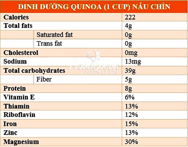 Hạt diêm mạch Organic Quinoa 1kg-Hạt diêm mạch hữu cơ, dinh dưỡng