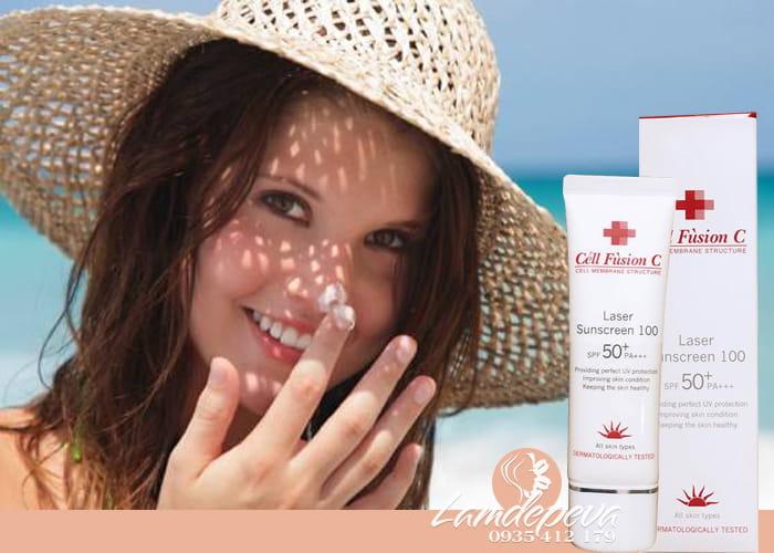 Kem chống nắng Laser Sunscreen 100 SPF 50+ PA+++ Hàn Quốc 2