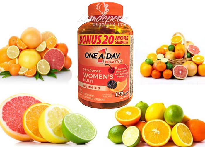 Kẹo dẻo vitamin One A Day Women's Vitacraves Gummies 170 viên 1