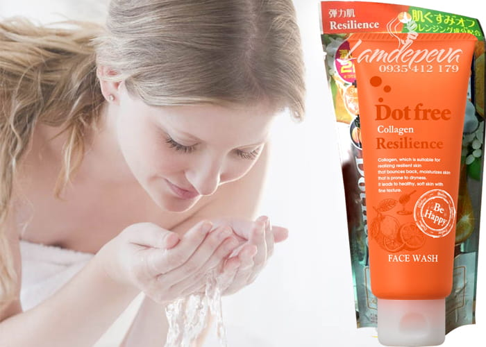 Sữa rửa mặt Collagen tươi Dotfree Resilience Face Wash 100g  2