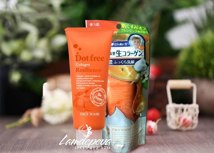 Sữa rửa mặt Collagen tươi Dotfree Resilience Face Wash 100g  1