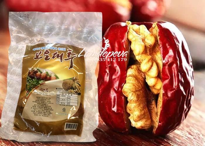 Táo đỏ kẹp óc chó Hàn Quốc gói 500g 1