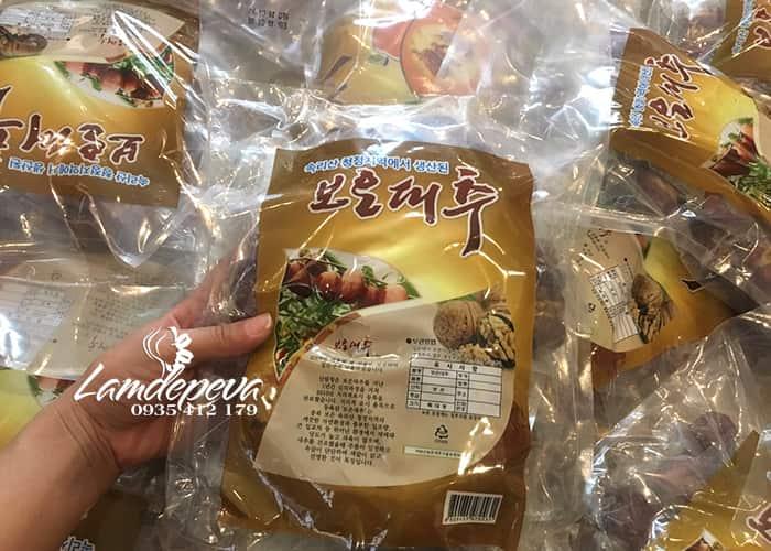 Táo đỏ kẹp óc chó Hàn Quốc gói 500g 5