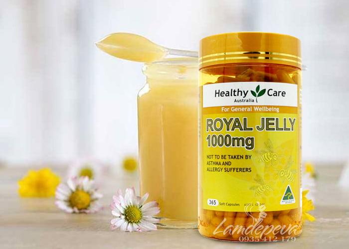 Sữa ong chúa Healthy Care Royal Jelly 1000mg 365 viên của Úc 1