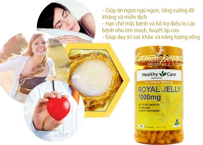 Sữa ong chúa Healthy Care Royal Jelly 1000mg 365 viên của Úc 2