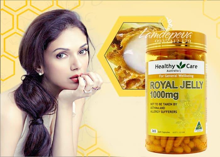 Sữa ong chúa Healthy Care Royal Jelly 1000mg 365 viên của Úc 4