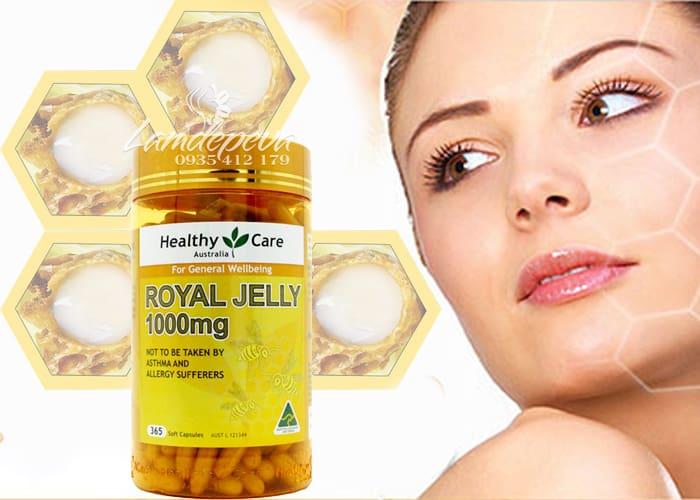Sữa ong chúa Healthy Care Royal Jelly 1000mg 365 viên của Úc 3