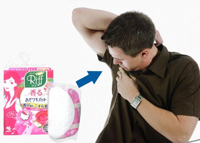 Miếng dán thấm mồ hôi nách Riff hộp màu hồng của Nhật 4