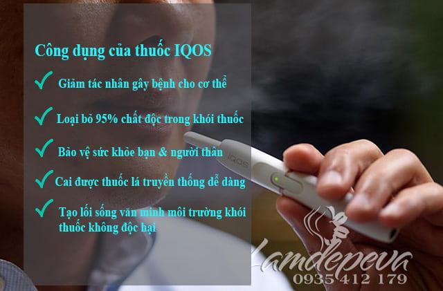 Công dụng của Bộ hút thuốc lá điện tử IQOS 2.4 Plus của Nhật