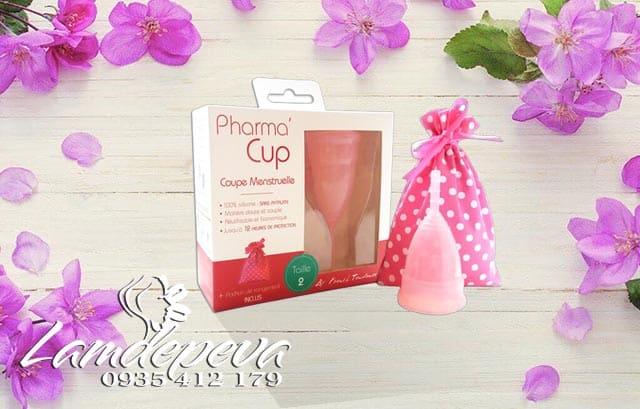 Cốc nguyệt san Pharma Cup màu trắng chính hãng Pháp