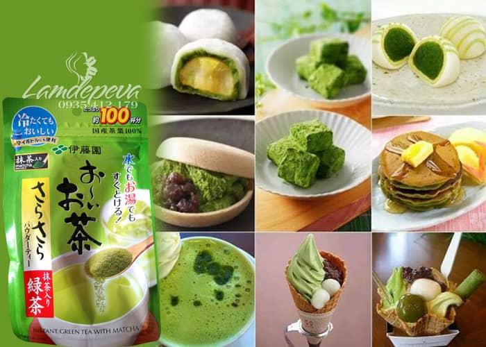 Bột trà xanh nguyên chất Matcha Itoen bịch 80g  3