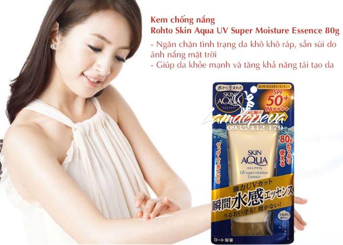 Kem chống nắng Skin Aqua UV Super Moisture Essence 80g 2