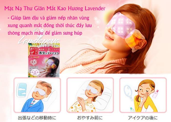 Mặt nạ ngủ chống thâm mắt Kao của Nhật Bản 2