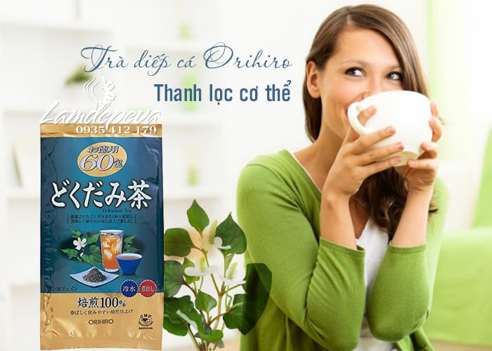 Trà diếp cá Orihiro Dokudami Tea 60 túi chính hãng Nhật Bản 1