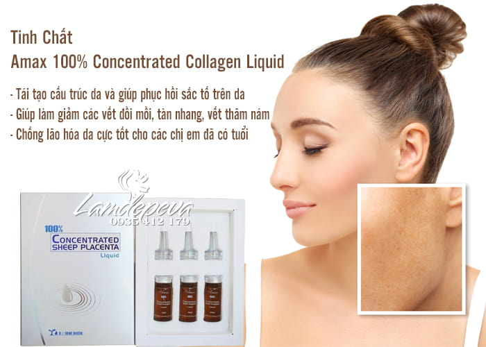 Tinh Chất  Amax 100% Concentrated Collagen Liquid Của Úc–3x10ml 2