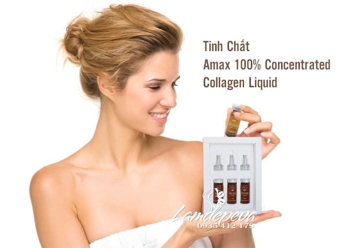 Tinh Chất  Amax 100% Concentrated Collagen Liquid Của Úc–3x10ml 3