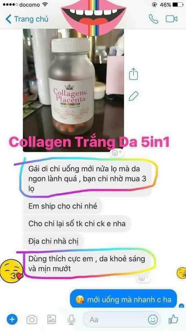 Viên uống collagen và placenta review 3