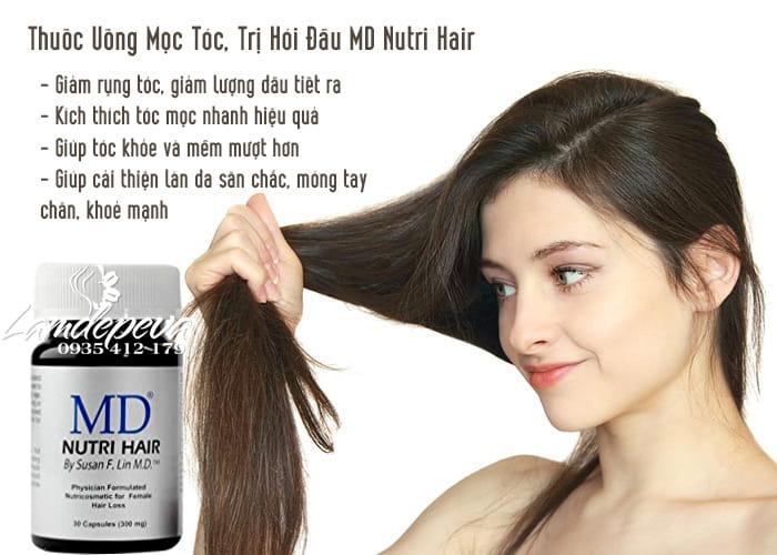Thuốc Uống Mọc Tóc, Trị Hói Đầu MD Nutri Hair Của Mỹ - 30 Viên 2
