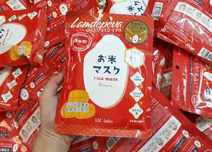 Mặt nạ dưỡng da IAC - Labo Rice Mask 10 miếng của Nhật Bản 3