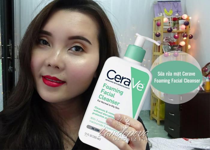 Sữa rửa mặt Cerave Foaming Facial Cleanser 355ml 2 loạiv 1