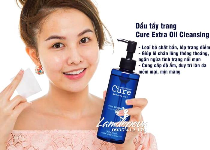 Dầu tẩy trang Cure Extra Oil Cleansing 200ml nội địa Nhật 3