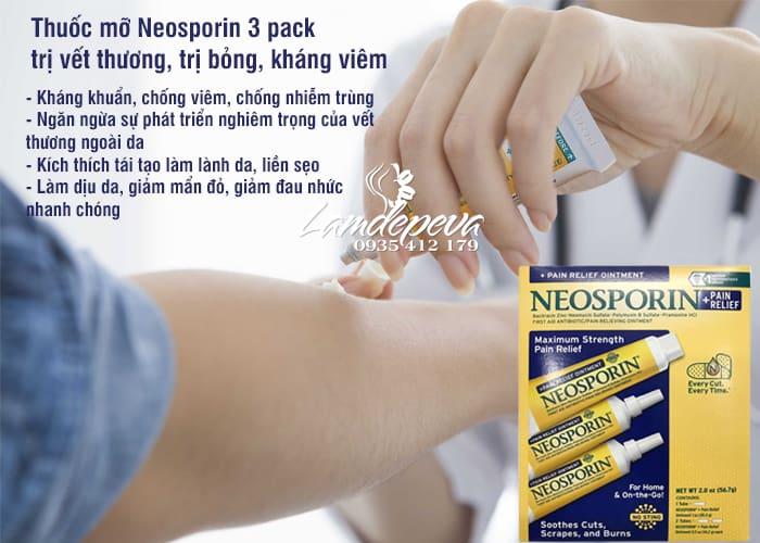 Thuốc mỡ Neosporin 3 pack chống nhiễm trùng, trị vết thương 3
