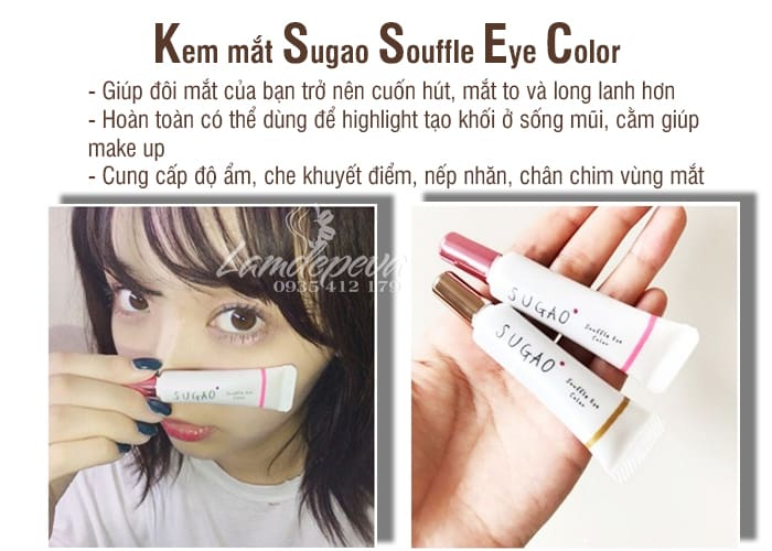 Kem mắt Sugao Nhật - Sugao Souffle Eye Color tuýp 7g đủ màu12