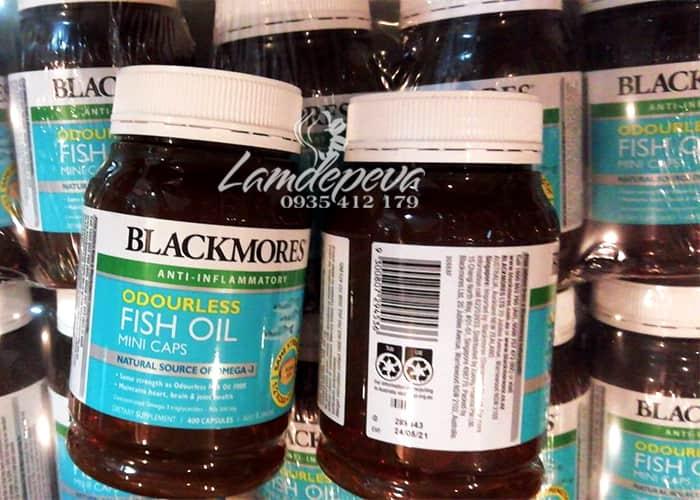 Dầu cá không mùi Blackmores Odourless Fish Oil Mini Caps34