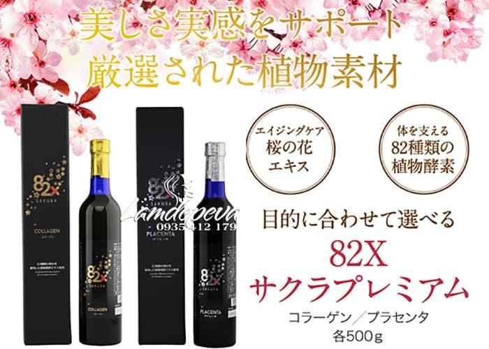 Nước uống Collagen 82x Sakura 120000mg của Nhật Bản 1