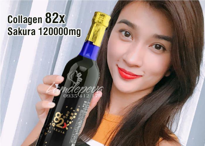 Nước uống Collagen 82x Sakura 120000mg của Nhật Bản 3