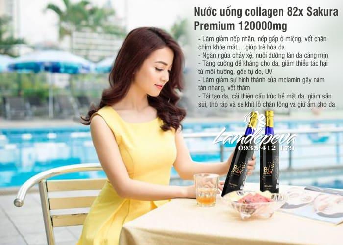 Nước uống Collagen 82x Sakura 120000mg của Nhật Bản 2