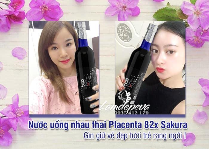 Nước uống nhau thai Placenta 82x Sakura Nhật Bản chai 500ml 2