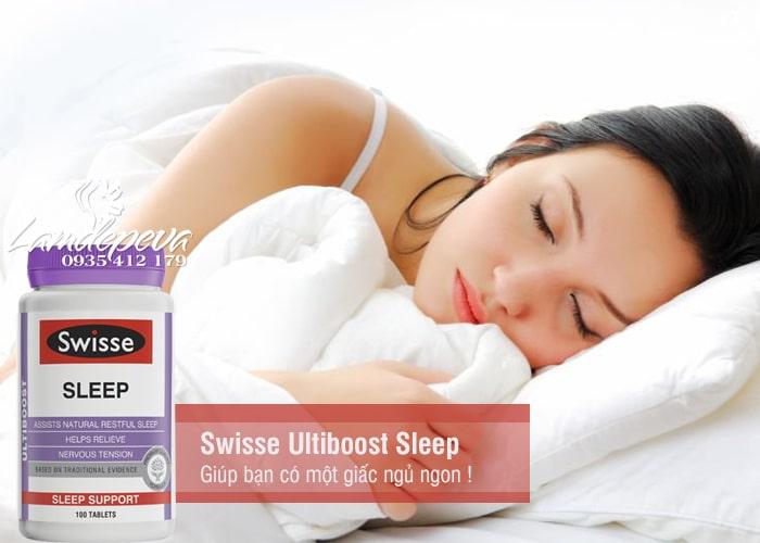Viên uống hỗ trợ giấc ngủ Swisse Ultiboost Sleep 100 viên của Úc 2