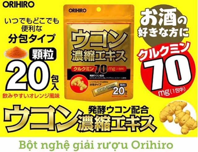 Bột nghệ giải rượu orihiro có tốt không