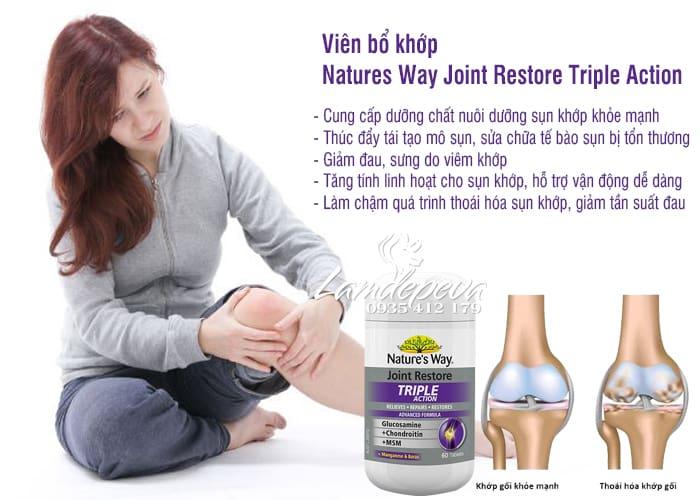 Viên uống bổ khớp Natures Way Joint Restore Triple Action 60v 3