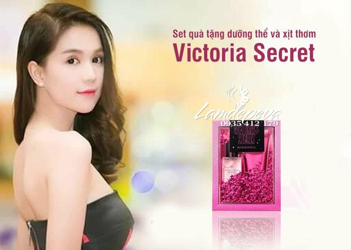 Set quà tặng dưỡng thể và xịt thơm Vitoria Secret 75ml 1