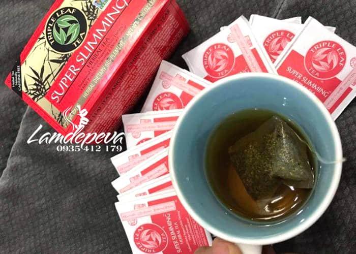 Trà giảm cân Triple Leaf Super Slimming Herbal Tea từ thảo mộc 1