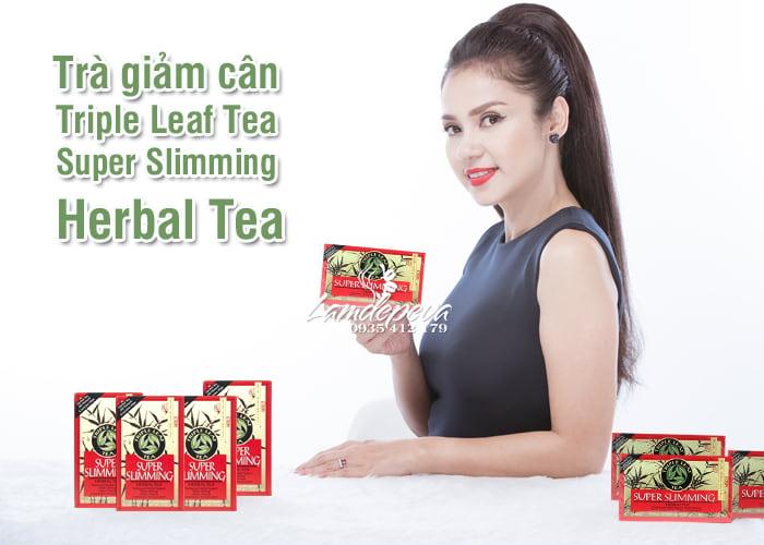 Trà giảm cân Triple Leaf Super Slimming Herbal Tea từ thảo mộc 12
