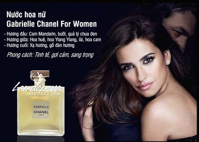 Nước hoa nữ Gabrielle Chanel 5ml For Women chính hãng Pháp 2