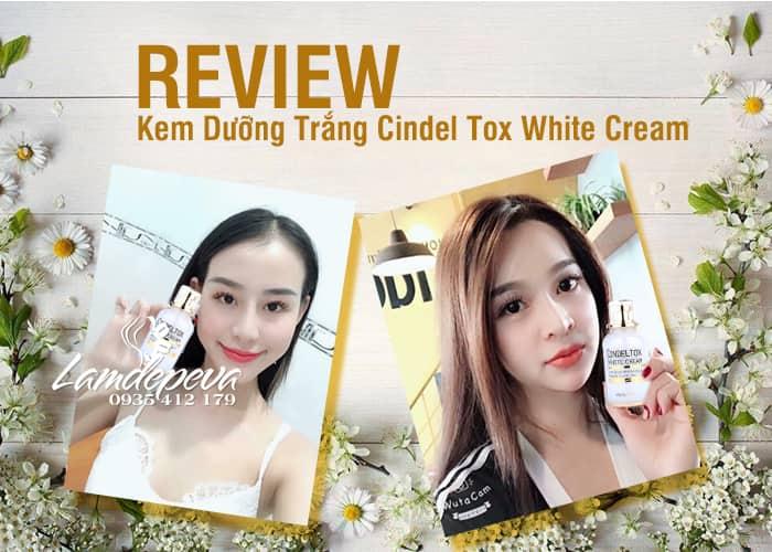 Kem dưỡng trắng Cindel Tox White Cream 50ml Hàn Quốc 3