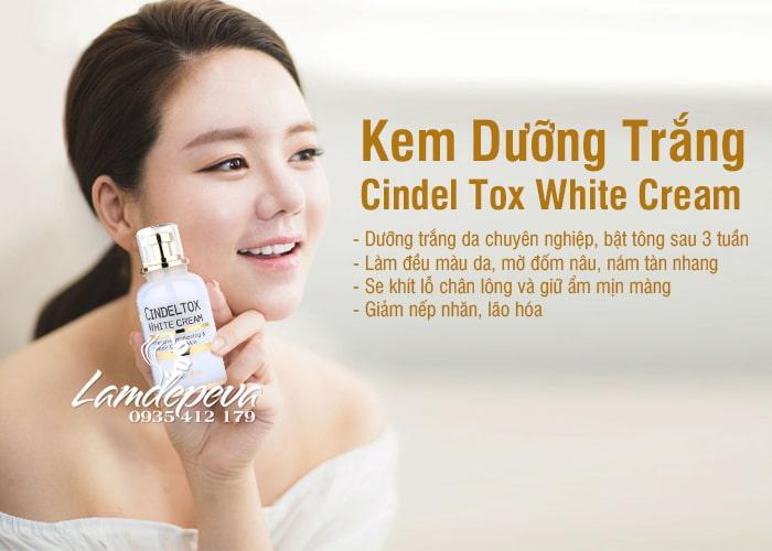 Kem dưỡng trắng Cindel Tox White Cream 50ml Hàn Quốc 2