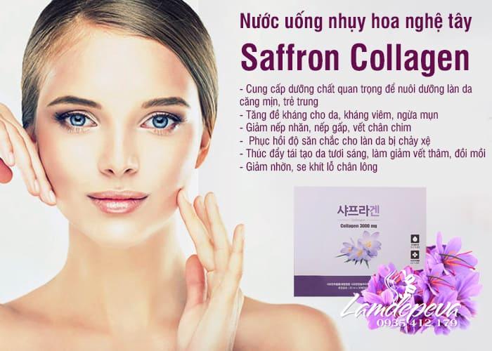 Nước uống nhụy hoa nghệ tây Saffron Collagen 3000mg Hàn Quốc 2
