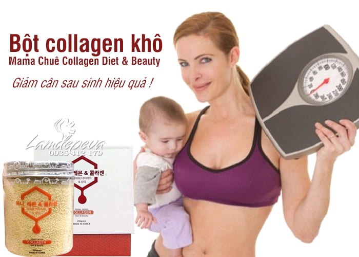 Bột collagen khô Mama Chuê Collagen Diet & Beauty Hàn Quốc 2